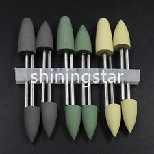 Dental SILICONE  Base Acrylic Polishers Resin Polishing Burs 2.35mm 12pcs/1Set