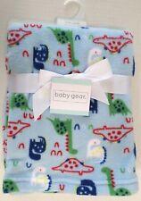 Baby Gear Boys Dinosaur Print Lightweight Baby Blanket Blue/Multi Poly 30x36