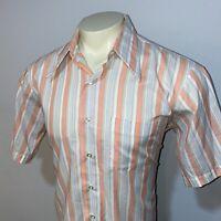 Vtg 50s 60s ARROW Belmont Club Dress Shirt S/S Mid Century Sanforized MENS 16.5