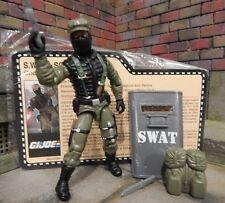 GI JOE ~ 2008  SHOCKBLAST~ SWAT S.W.A.T. ~ 100% & file card ~ CONVENTION JOECON