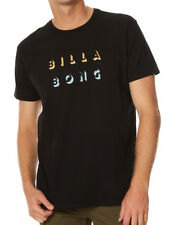 BRAND NEW + TAG BILLABONG MENS (XL) 'SHADOW CUT' SURF T-SHIRT TEE CORE FIT BLACK