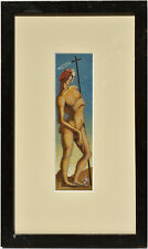 W Eberhard 1940 - Small, Original - Surreal Oil Painting - Signed, Dated