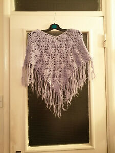 Children's Lilac Shawl with Frayed Ends - Used