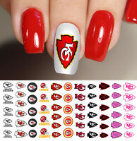 Kansas City Chiefs Football Nail Art Decals - Salon Quality!