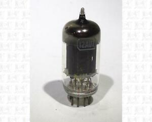 Westinghouse 12AU7 Vacuum Tube Made In USA Tested Black Plates Yellow Label