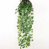 Artificial Ivy Leaf Trailing Vine Fake Foliage Flower Hanging Garland Plants