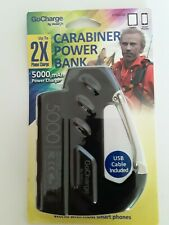 Cell Phone Tablet Carabiner Power Bank Charger 5000 mAh with USB cord **NEW**