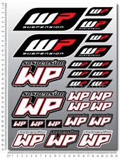WP White Power shock fork gabel aufkleber set blatt 26 sticker KTM Duke exc