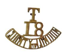 T.18 County of London Shoulder Title Brass Metal