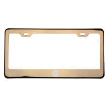 Rose Gold Laser Etched Fiat Logo License Plate Frame w/cap T304 Stainless Steel