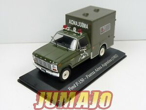 SER13 1/43 SALVAT Vehiculos Servicios FORD F 150 1982 Croix rouge ambulance