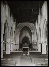 Glass Magic Lantern Slide PARISH CHURCH INTERIOR ARUNDEL C1900 PHOTO WEST SUSSEX