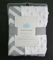 Cloud Island Baby Changing Pad Cover Cevron White Gray Wipeable Oeko-Tex New