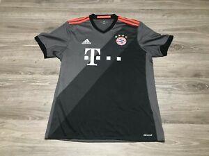 Men's Adidas 2016/2017 FC Bayern Munich Away Soccer Football Jersey Size Large