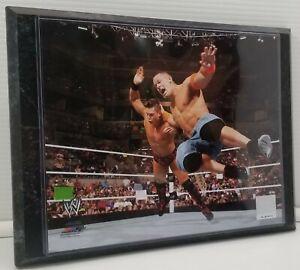 "John Cena WWE Wrestling Black Marble Wall Plaque Picture 8"" x 10"" Miz"