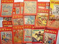 Ensemble de 19 n° Le Capitaine RICARDO. Fascicules populaires 1946 et suite..
