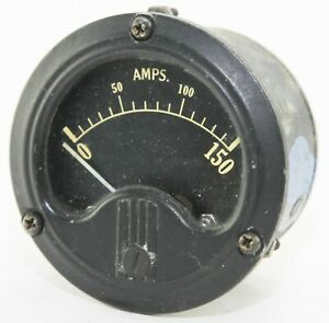 American ammeter reading 0-150A for C47, P40 etc (GC6)