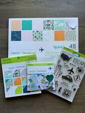 My Mind's Eye World Traveler Scrapbook Paper Stamps + Embellishments