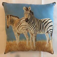 New Beautiful Pair Of Zebras On Safari Wildlife Complete 15 X 15 Throw Pillow