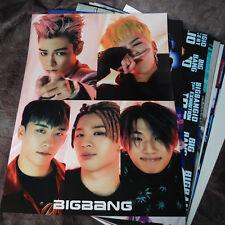 K-POP BIGBANG GD TOP 12cut Posters Collection Bromide + A3 BIGBANG Photo Sticker