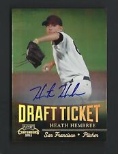 2011 Playoff Contenders Heath Hembree Certified Autograph Rookie Card Giants