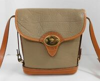 Dooney & Bourke Vintage Taupe British Brown AWL Leather Medium Crossbody Bag USA