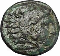 PERGAMON in MYSIA 310BC Hecules Athena Authentic Ancient Greek Coin i49497