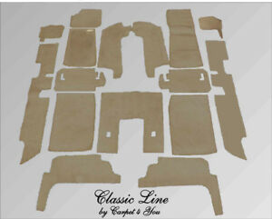 Graybeig velours carpet kit for Jaguar XJ6 & XJ12 Serie 2 and 3 Four Door Saloon