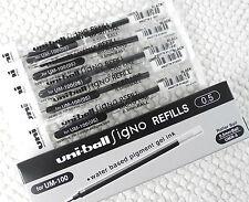 12pcs UNI-BALL UMR-5 0.5mm refill for UM-100 roller ball pen BLACK ink
