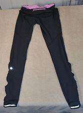 Rare Lululemon Run Speed Tight IV Legging Pants Gray Pink SZ 8 Reflective VGUC
