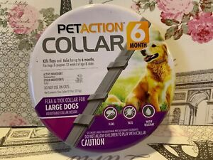 PETACTION COLLAR 6 MONT FLEA & TICK COLLAR FOR LARGE DOGS
