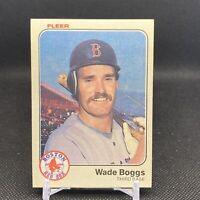 1983 FLEER BASEBALL #179 WADE BOGGS RED SOX ROOKIE CARD