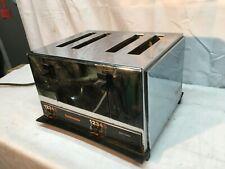 Vintage Toastmaster Chrome  4-Slice Toaster Mid Century Kitchenware Working