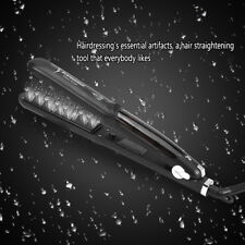 Professional Ceramic Steam Hair Straightener Styler Flat Iron For Dry & Wet LY