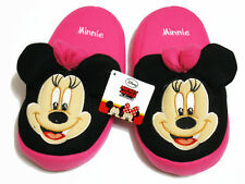 Minnie Mouse Pink&Black Slippers NWT Disney US Size 5-9 (UK 3-7, EU 34-40) #002