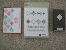 Stampin Up MOSAIC MADNESS Stamps & MOSAIC PUNCH Match Geometric Bohemian Retired