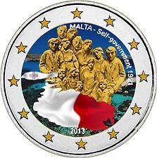 "Colorierte 2 euros SKM Malta 2013"" 1921 autogobierno"""