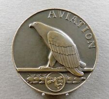 French Large (6,8 cm) Medal. Aviation, Eagle 1933. By Mascaux.