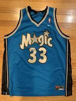 GRANT HILL Orlando Magic NBA Nike Swingman Jersey Blue SEWN MEN RARE X-LARGE