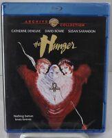 The Hunger (Blu-Ray Disc, Warner Aug-2015) 1983 David Bowie, Catherine Deneuve