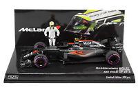 1/43 Minichamps Jenson Button McLaren Honda 2016 Abu Dhabi Grand Prix + Figure