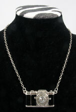 "Necklace, Camera - Black & Silver w/28"" chain"
