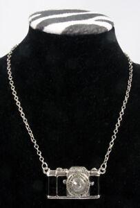 """Necklace, Camera - Black & Silver camera w/28"""" necklace"""