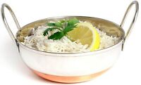 Sunnex Stainless Steel & Copper Base Balti Rice Curry Serving Dish Bowl