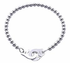 Dinh Van Paris style Jewelry Sterling Silver unisex handcuff chain Bracelet