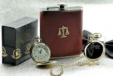 More details for legal scales of justice pocket watch gift solicitor police law graduate lawyer