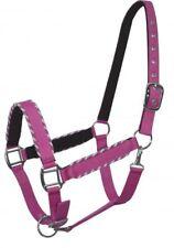 Showman PINK Nylon Neoprene Lined Horse Halter w/ Rope Border Design!! NEW TACK!