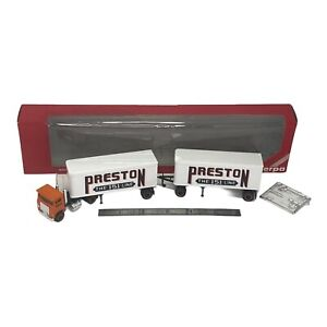 Promotex Herpa 1/87 Preston The 151 Line Truck And  Tandem Trailer HO Scale 6120
