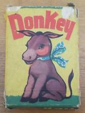Donkey - Vintage 1950's Boxed Tower Press Card Game