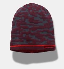 Men s Under Armour Stealth Gray raisin Red Reversible Graphic Beanie One  Size 7c19135f2cbd